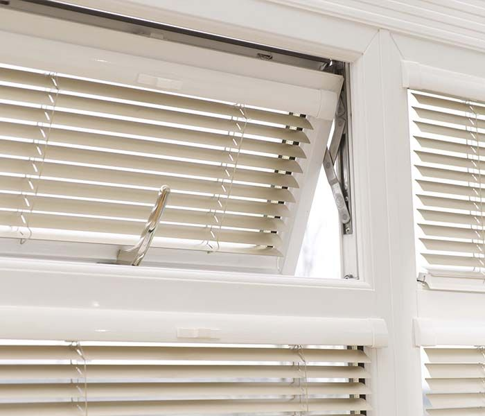 intu blinds fitted to windows in conservatory